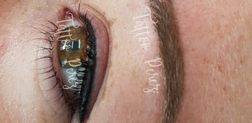 Eyeliner en powderbrows.❤❤ wenkbrauwen worden …