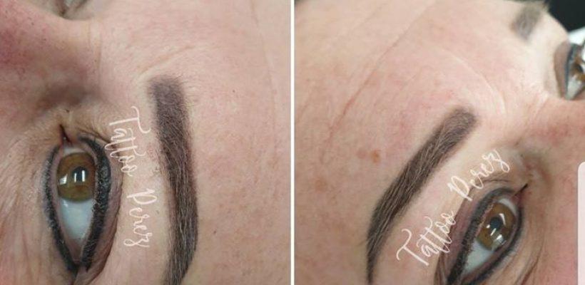 Powder brows & eyeliner boven en onder😍😍😍