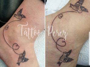 Moeder en dochter tattoo …