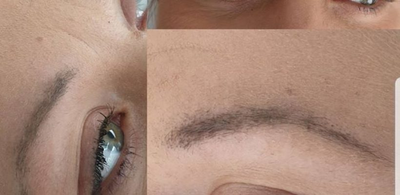 Ombre brows?????1ste behandeling. …